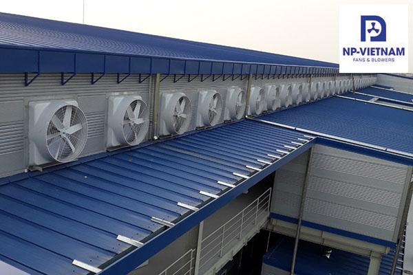 Quạt hút công nghiệp,quạt hút gió Composite NAKO.